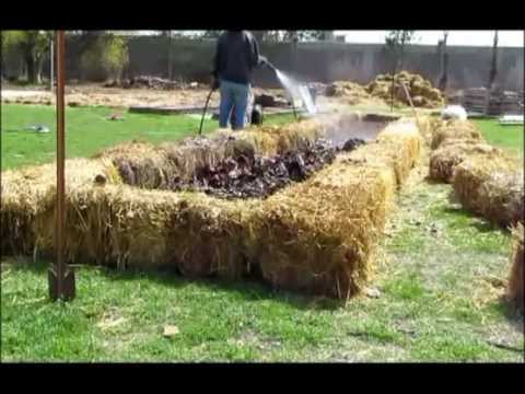 How to build a raised, no dig, no till, lasagna garden bed. (time lapsed)