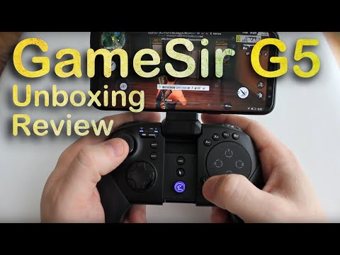 GameSir G5 Game Controller Unboxing and gameplay
