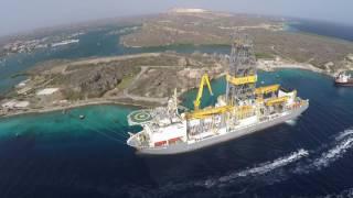 Drill ship Rowan Relentless at Caracasbaai