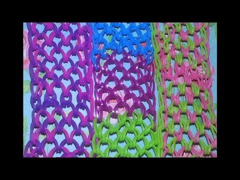 RAINBOW LOOM DRAGON SCALE CUFF BRACELET -How to make