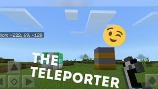 How to build a teleporter in mcpe