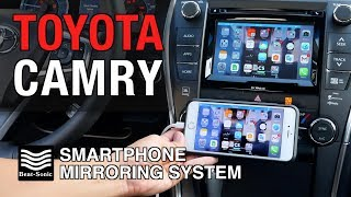 2014-2017 Toyota Camry Smartphone Mirroring System Installation and Demonstration