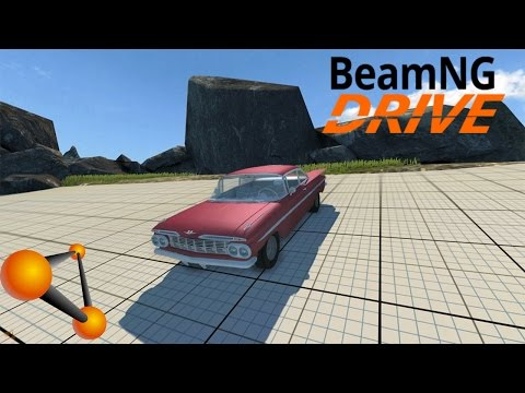 BeamNG Drive Vehicle Mod - 1959 Chevrolet Impala Coupe (Crash Testing)