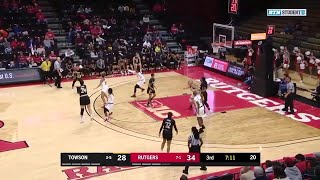 Highlights: Towson at Rutgers | B1G Women's Basketball | Dec. 8, 2019