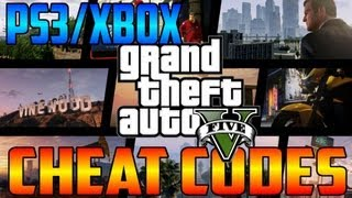 GTA V Single Player Cheat Codes PS3/Xbox 360 (Cars, Parachutes, Planes, Wanted Levels & More!)