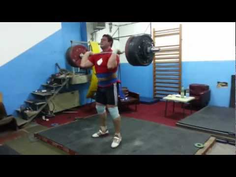 210 kg Barbell Complex, Power Clean + 5 Jerks  - Weightlifting - Igor Lukanin +105 Kg Image 1