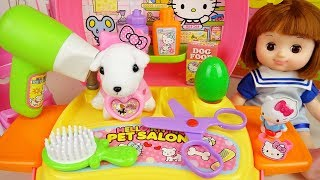 Baby Doli and pet hair shop toys and surprise eggs baby doll play