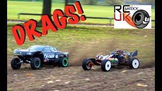 DRAG RACING! ALX Super 40cc Baja 5SC VS Rovan 36cc shorty VS Zen G320 Baja!