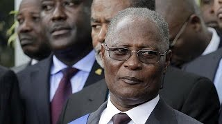 The swearing in of Haiti new provisional president, Jocelerme Privert