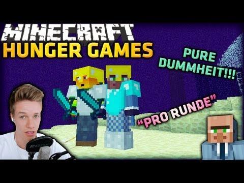 Minecraft HUNGER GAMES [Cam] - PURE DUMMHEIT!! (SKILL ROUND)