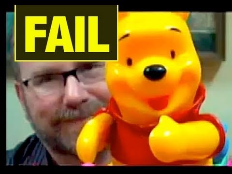FAIL TOYS Knock-Off POOH Funny Video Toy Review video Mike Mozart JeepersMedia Video