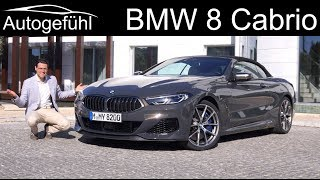 BMW 8 Series Convertible FULL REVIEW 8er Cabriolet - Autogefühl