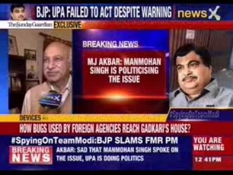 MJ Akbar: Manmohan Singh is politicising the issue of spying scandel