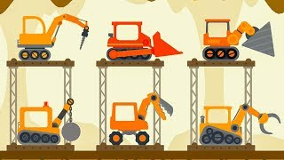 Truck Construction The Excavator - Dinosaur Digger 3 - The Truck - Digger Cartoons for Children