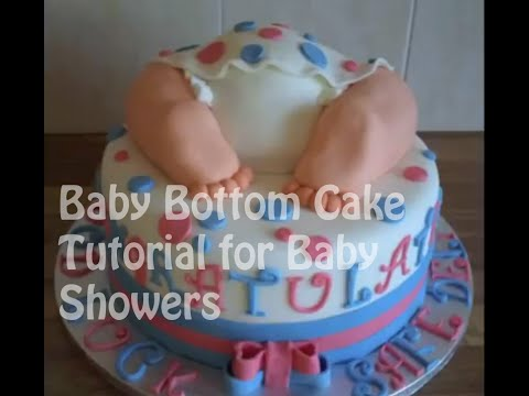 baby bottom cake tutorial for baby showers youtube