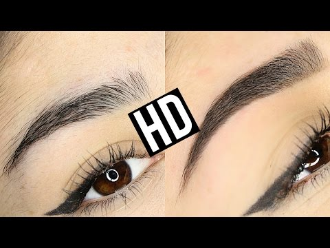 HD HIGH DEFINITION BROWS EYEBROW TRANSFORMATION   BEFORE & AFTER