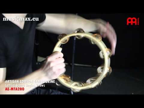 MEINL TAMBOURINE AE-MTA2BO | Demonstration of sound | How to play tambourine