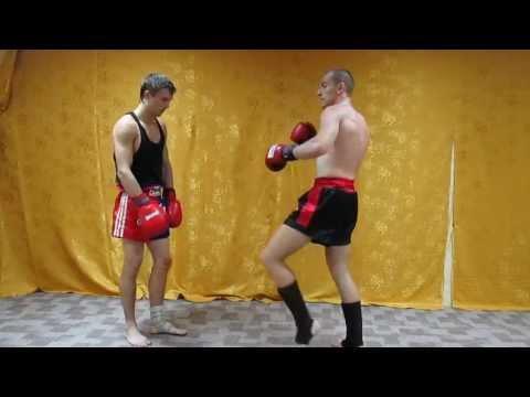 Тайский бокс комбинации - серия под жесткий лоу кик