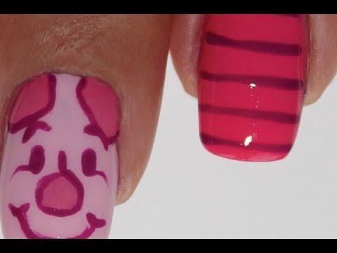 Piglet nail art tutorial - Malackás körmök készítése