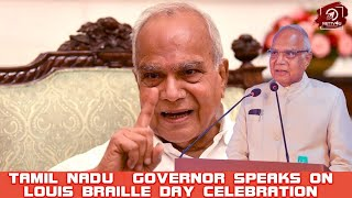 Honourable Governor of Tamilnadu Speech at Louis Braille Day Celebration   Banwarilal Purohit