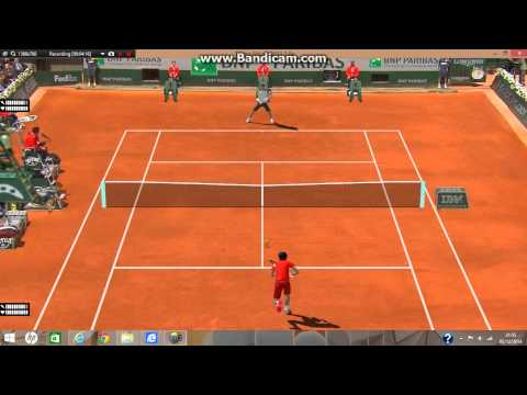 Roland Garros Roger Federer v Ernests Gulbis Tennis Elbow 2014 (Sam's Patch)