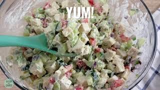 Easy Keto Chicken Salad - served 3 ways
