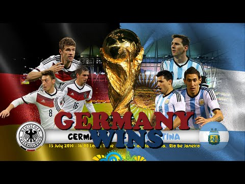 Germany Wins 2014 World Cup Final - Germany vs Argentina! (1-0 Extra Time Win)