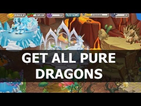 How To Get ALL PURE DRAGONS In Dragon City Breeding Pure Elemental Dragons