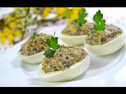 Jajka Faszerowane Pieczarkami - Jak Zrobić - [Smakowite Dania]