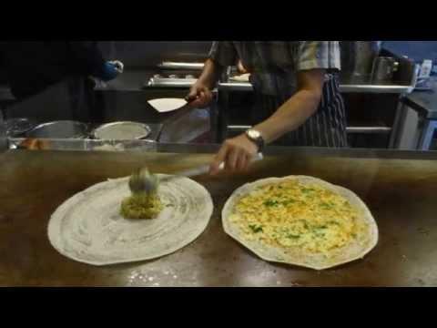 Indian Street Food: Cheese Masala Dosa & Masala Dosa at Sangeetha Restaurant, Hounslow West, London.