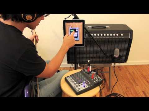 3) Headphone jack input, Mixer | Record on iPhone iPad with StudioMini ♬ Recording Studio App