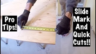 PRO CARPENTER TIPS for CUTTING and MEASURING PLYWOOD!!