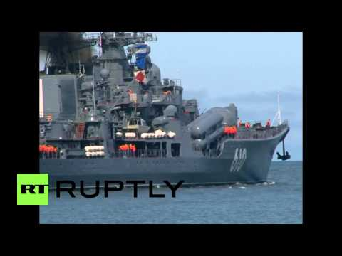 Russia: Destroyers and Minesweepers involved in Baltic Fleet drills