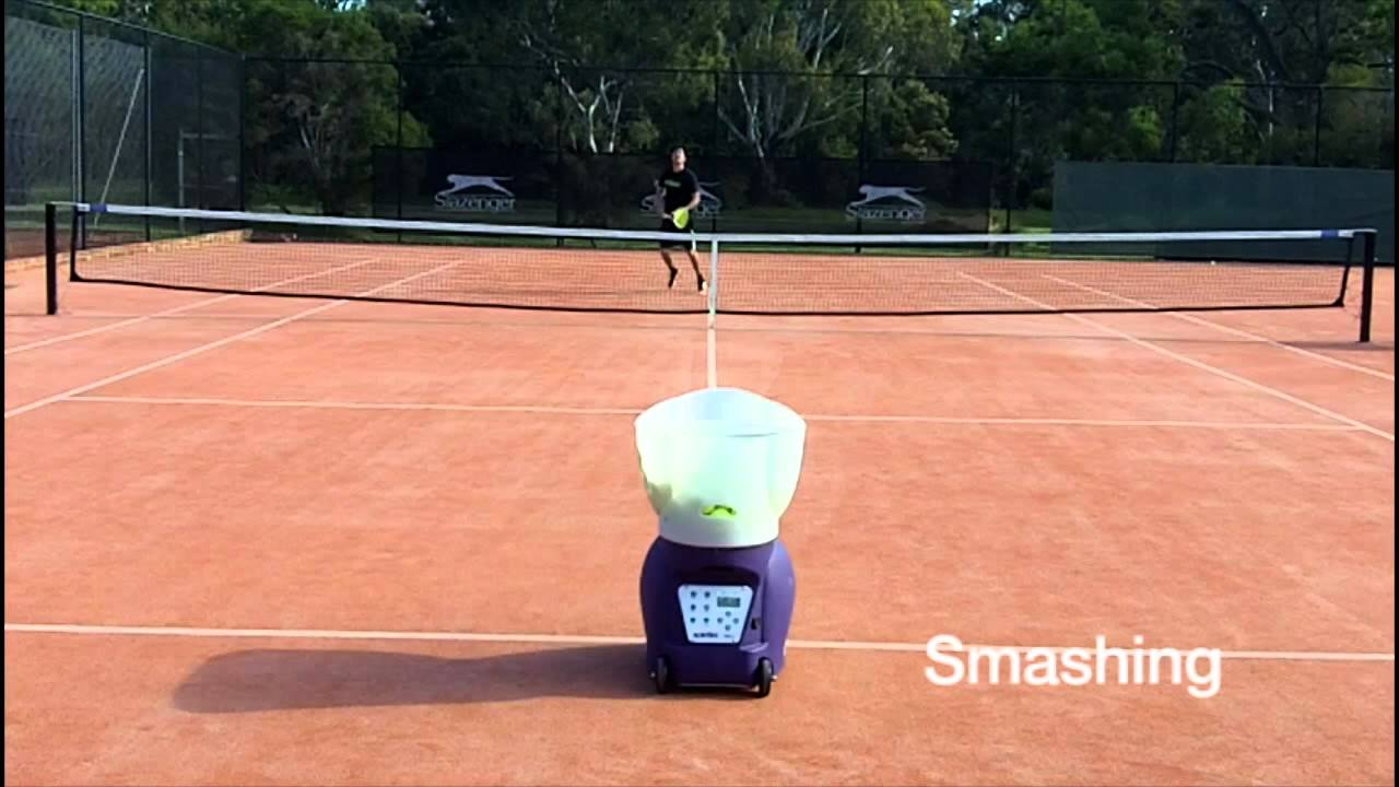 Spinfire Pro 2 Tennis Ball Machine - On Court - YouTube