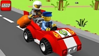 Phim hoạt hình 3D xe ô tô cảnh sát đuổi bắt cướp ll Lego Police Car, Cartoon about Lego