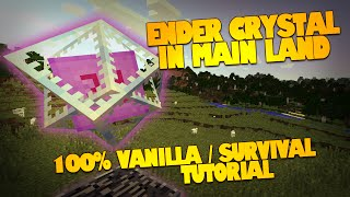 Minecraft Glitches | Ender Crystal in OVERWORLD | How to Move the Ender Crystal! (Minecraft How To)