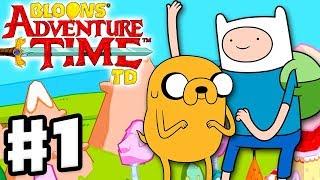 Bloons Adventure Time TD - Gameplay Walkthrough Part 1 - Finn and Jake Rescue Princess Bubblegum!