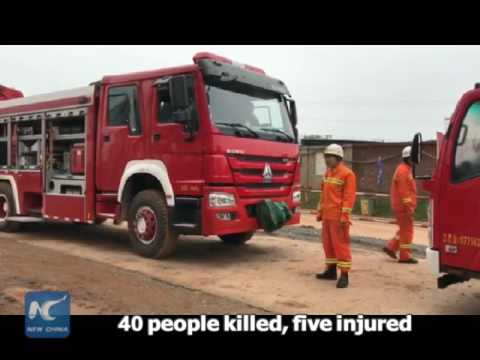 40 people killed in scaffolding accident in east China, some people still trapped 江西丰城倒塌事故现场