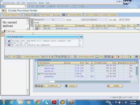 SAP MM Special procurement demo