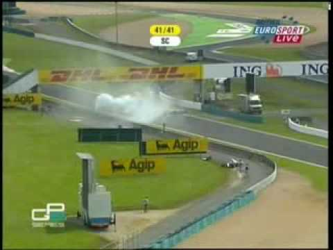 GP2 massive crash at Magny Cours 2007