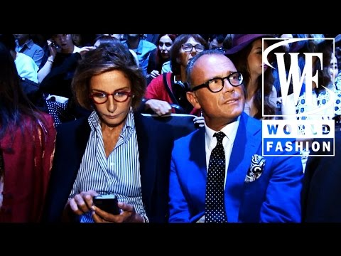 Front Row Alberta Ferretti Spring-Summer 2015 Milan Fashion Week