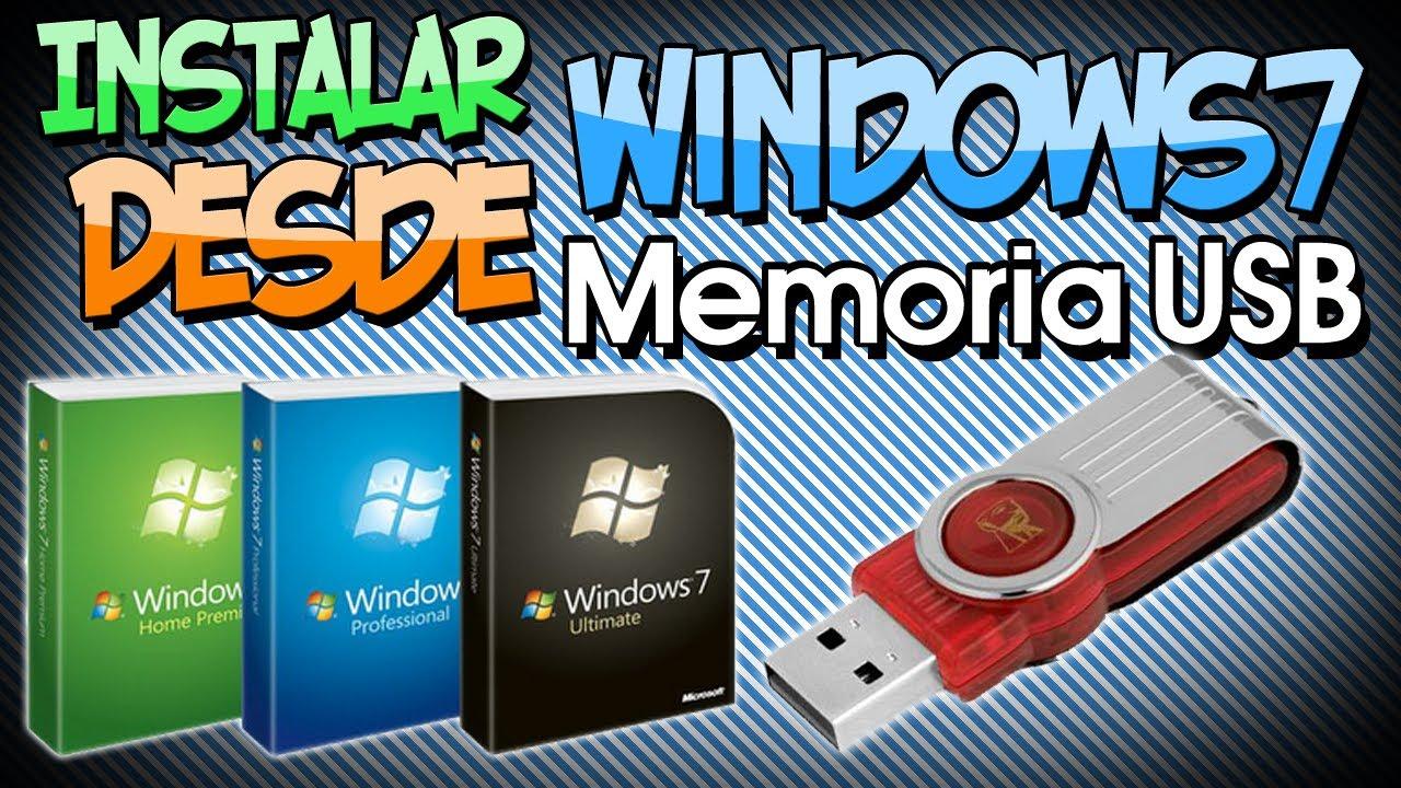 Preparar una USB para instalar Windows sin programas