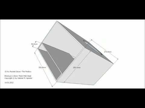 15Kw Rocket Stove   Free Plans Ракетная печь с чертежами