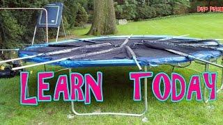 backyard trampoline assembly