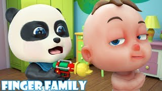 Finger Family Song | Baby Panda Play Soccer With Baby Bom | Bom Cartoon