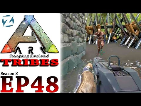 ARK Survival Evolved Tribes Gameplay - S3 Ep 48 - Raiding Draax #1