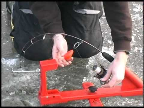 Ice fishing pike youtube for Jaw jacker ice fishing