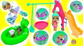 LOL Surprise Series 2 Lil Sisters Baby Dolls Blind Bag , Cry, Color Change At Playground
