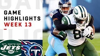 Jets vs. Titans Week 13 Highlights | NFL 2018
