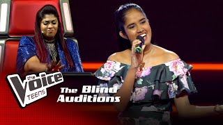 Imesha Sathsarani | Gimhana Kale Blind Auditions | The Voice Teens Sri Lanka